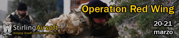 Operation Red Wing - Stirling Airsoft 20-21 marzo Banner